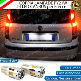 Coppia Frecce Posteriori PY21W 24 LED Canbus 3.0 per FIAT PANDA II