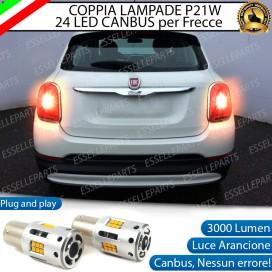 Coppia Frecce Posteriori P21W 24 LED Canbus 3.0 per FIAT 500X