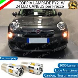Coppia Frecce Anteriori PY21W 24 LED Canbus 3.0 per FIAT 500X