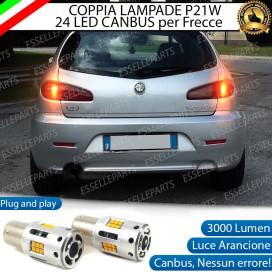 Coppia Frecce Posteriori P21W 24 LED Canbus 3.0 per ALFA ROMEO 147 RESTYLING