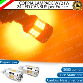 Coppia Frecce WY21W T20 24 LED Canbus 3.0