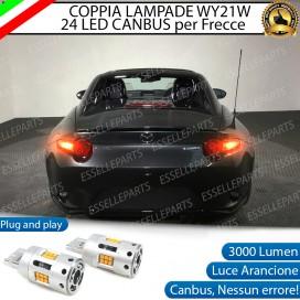 Coppia Frecce Posteriori WY21W T20 24 LED Canbus 3.0 PER MAZDA MX-5 IV