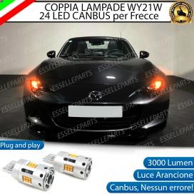 Coppia Frecce Anteriori WY21W T20 24 LED Canbus 3.0 PER MAZDA MX-5 IV