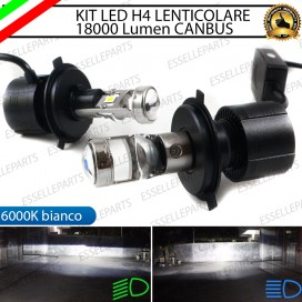 Kit Full LED coppia H4 BI-LED conversione in faro lenticolare