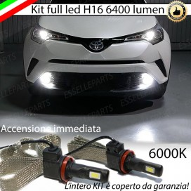 Kit Full LED H16 Fendinebbia 6400 LUMEN TOYOTA C-HR
