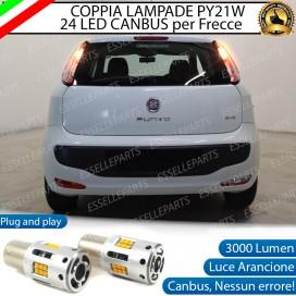 Coppia Frecce Posteriori PY21W 24 LED Canbus 3.0 per FIAT PUNTO EVO