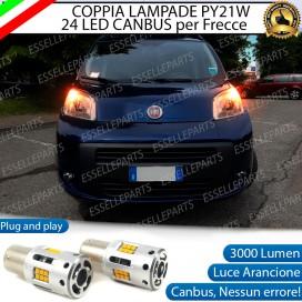 Coppia Frecce Anteriori PY21W 24 LED Canbus 3.0 per FIAT QUBO