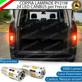 Coppia Frecce Posteriori PY21W 24 LED Canbus 3.0 per CITROEN BERLINGO III