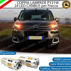 Coppia Frecce Anteriori PY21W 24 LED Canbus 3.0 per CITROEN BERLINGO III