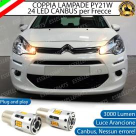 Coppia Frecce Anteriori PY21W 24 LED Canbus 3.0 per CITROEN C3 II