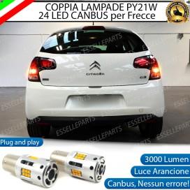 Coppia Frecce Posteriori PY21W 24 LED Canbus 3.0 per CITROEN C3 II