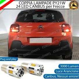 Coppia Frecce Posteriori PY21W 24 LED Canbus 3.0 per CITROEN C3 III