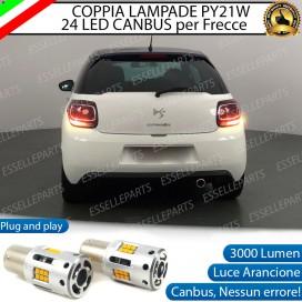 Coppia Frecce Posteriori PY21W 24 LED Canbus 3.0 per CITROEN DS3