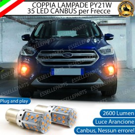 Coppia Frecce Anteriori PY21W 35 LED Canbus FORD KUGA II RESTYLING