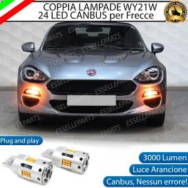 Coppia Frecce Anteriori WY21W T20 24 LED Canbus 3.0 PER ABARTH 124 SPIDER
