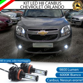 Kit Full LED H8 9800 LUMEN Fendinebbia per CHEVROLET ORLANDO
