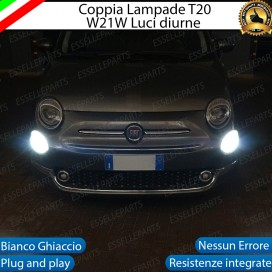 Luci Diurne a LED CANBUS 3.0 T20 W21W per FIAT 500 RESTYLING