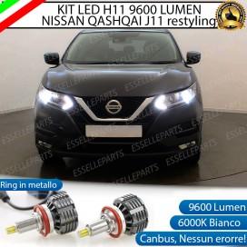 Kit LED Anabbaglianti coppia H11 9600 LUMEN NISSAN QASHQAI II RESTYLING
