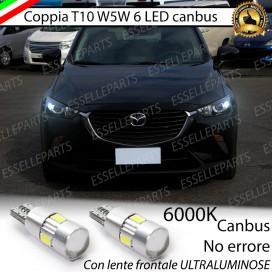 Luci posizione T10 W5W 6 LED Canbus Mazda CX-3