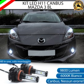 Kit Full LED Fendinebbia H11 9800 LUMEN per MAZDA 3 II