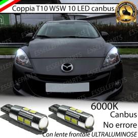 Luci posizione T10 W5W 10 LED Canbus Mazda 3 II