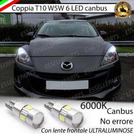 Luci posizione T10 W5W 6 LED Canbus Mazda 3 II