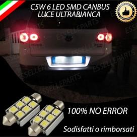 LUCI TARGA 6 LED CANBUS 6000K PER VW TIGUAN 5N FINO AL 2009