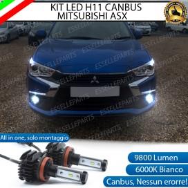 KitFull LEDFendinebbia H11 9800 LUMEN perMITSUBISHI ASX