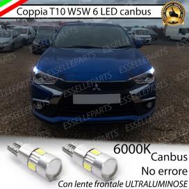 Luci posizione T10 W5W 6 LED Canbus Mitsubishi ASX