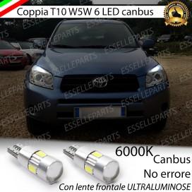 Luci posizione T10 W5W 6 LED Canbus Toyota Rav4 (MK3)