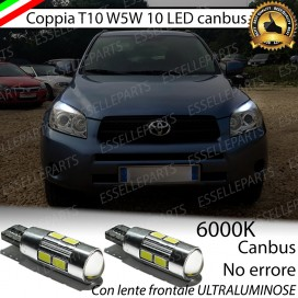 Luci posizione T10 W5W 10 LED Canbus Toyota Rav4 (MK3)