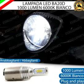 Lampada BA20D 1000 LUMEN Anabbagliante Abbagliante Aprilia Scarabeo (50) (2008-2017) 2t
