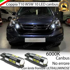 Luci posizione T10 W5W 10 LED Canbus Honda CR-V III