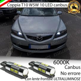 Luci posizione T10 W5W 10 LED Canbus Mazda 6 I