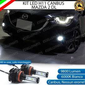 KitFull LEDFendinebbia H11 9800 LUMEN perMAZDA 2 III