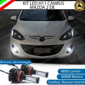KitFull LEDFendinebbia H11 9800 LUMEN perMAZDA 2 II