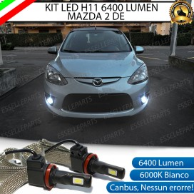 KitFull LEDFendinebbia H11 6400 LUMENMAZDA2 II