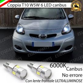 Luci posizione T10 W5W 6 LED Canbus Toyota Aygo I