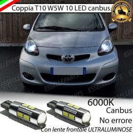 Luci posizione T10 W5W 10 LED Canbus Toyota Aygo I