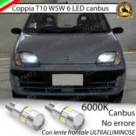 Luci posizione T10 W5W 6 LED Canbus FIAT SEICENTO