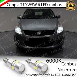Luci posizione T10 W5W 6 LED Canbus Suzuki Swift IV