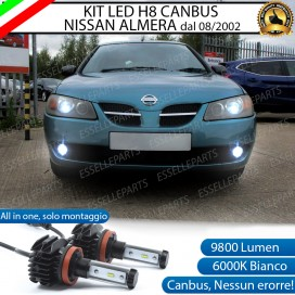 Kit Full LED H8 Fendinebbia 9800 LUMEN Nissan Almera II dal 08-2002