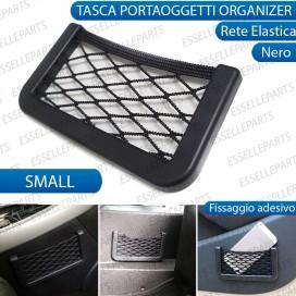Tasca Portaoggetti adesiva con rete per interni Auto - SMALL