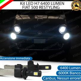 KitFull LED H7 6400 LUMEN AbbagliantiFIAT500 RESTYLING