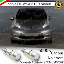 Luci posizione T10 W5W 6 LED Canbus Nissan Leaf