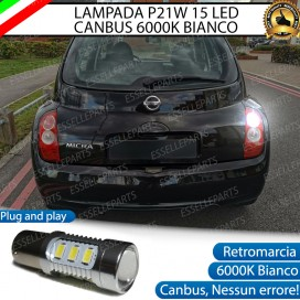 Luce Retromarcia 15 LED Nissan Micra III CON LENTE FRONTALE