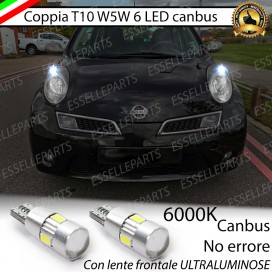Luci posizione T10 W5W 6 LED Canbus Nissan Micra III