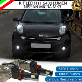 Kit Full LED Fendinebbia H11 6400 LUMEN NISSAN MICRA III