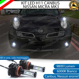 Kit Full LED Fendinebbia H11 9800 LUMEN per NISSAN MICRA III