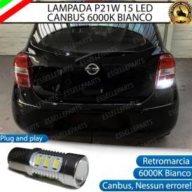 Luce Retromarcia 15 LED Nissan Micra IV CON LENTE FRONTALE